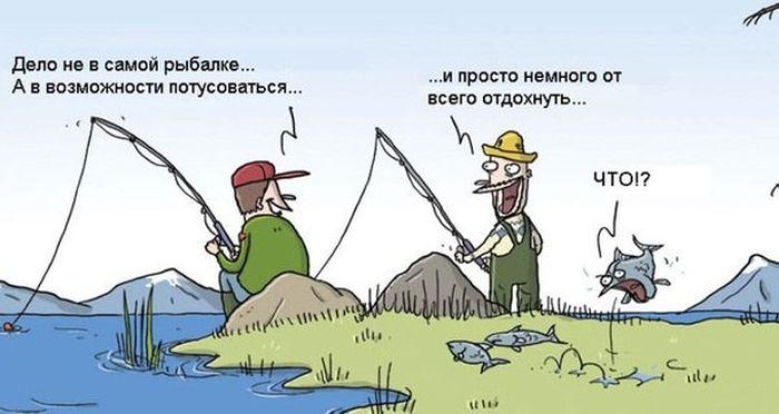 юморные картинки про рыбаков