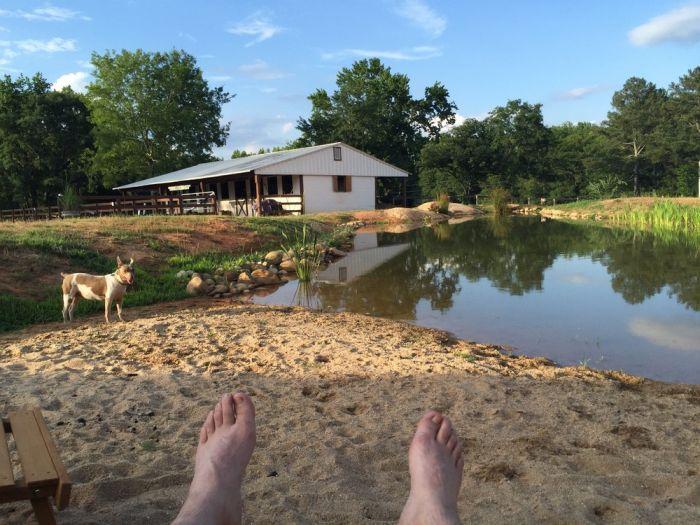 Как построить пруд около частного дома